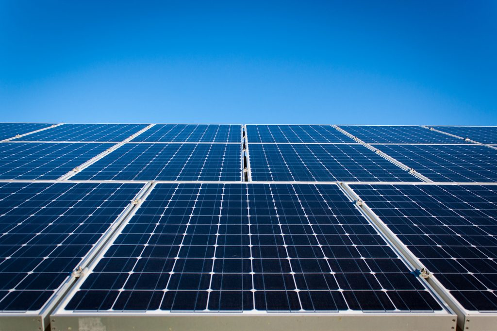 green sustainability solar panels